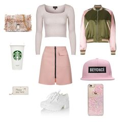 """""""Sans titre #22"""" by mathis-weks on Polyvore featuring mode, Alexander McQueen, Topshop, Proenza Schouler, Skinnydip, Glamorous et Anya Hindmarch"""
