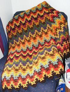 lacy chevron crochet pattern - Google Search