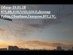 Обзор-29.01.18 RTS,BR,EUR/USD,GOLD,Доллар Рубль,Сбербанк,Газпром,BTC,LTC.