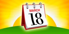 2015 Autumn Repeal Day - calendar showing March 18