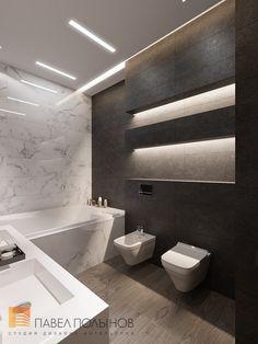 Фото: Ванная комната - Пятикомнатная квартира в стиле минимализм, ЖК «Классика», 208 кв.м.