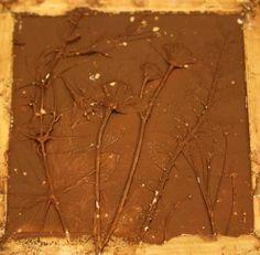 Tile still in wooden frame