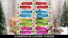 Buy Christmas Lower Thirds by MondayMotion on VideoHive. Christmas Holiday, Christmas Cards, Xmas, Lower Thirds, Santa, 10 Seconds, Joy, My Love, Winter