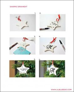 Free Sharpie Marker Ornament Tutorial PDF Instructions for a Pinterest Craft Party via lilblueboo.com