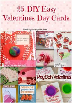 25 DIY Easy Valentines Day Cards