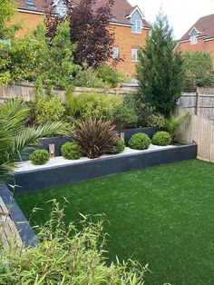 Trulawn Artificial Grass lawn in a contemporary garden style.