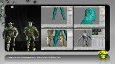 Trabalhos produzidos no curso Personagem High End. Ver mais: www.tonka3d.com.br/curso-3ds-max-personagem-avancado.html