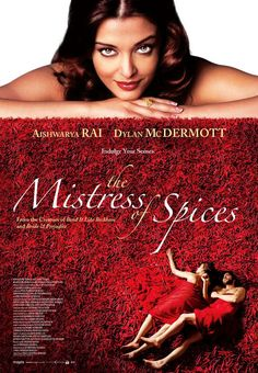 """""""The Mistress of Spices"""" (2005) """"[Tilo] becomes the Mistress of Spices and is sent to the Spice Bazaar in San Francisco, with the mission of following three basic rules: help her clients to accomplish their desires with the spices, but never hers; never leave the store; and never be touched on the skin. When she meets the handsome American architect Doug, she feels a great attraction and desire for him, breaking the first rule and being punished by the spices."""" from imbd.com"""