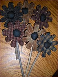 Large Prim Flower-handmade, flower, homespun, spring, easter, primitive, craft