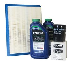 2012-2013 Rzr 570 Efi Genuine Polaris Oil Change and Air Filter Kit  **Kit Includes 2 Quarts of Genuine Polaris PS4 Oil, One Oil Filter, and One Air Filter **Kit Includes 2 Quarts of Genuine Polaris PS4 Oil, One Oil Filter, and One Air Filter **Kit Includes 2 Quarts of Genuine Polaris PS4 Oil, One Oil Filter, and One Air Filter Polaris PS-4 provides maximum protection for your ATV and snowmobile engine and transmission components **Kit Includes 2 Quarts of Genuine Polaris PS4 Oil, On..