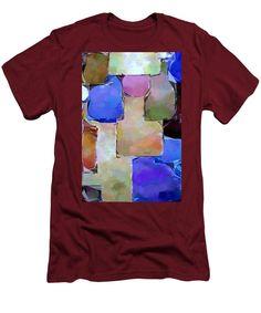Men's T-Shirt (Slim Fit) - Purple Squares