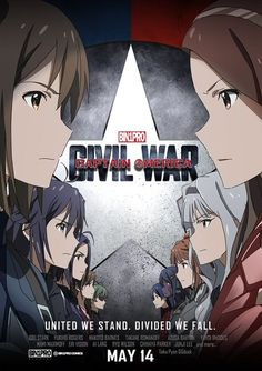 Captain America: Civil War starring anime girls is kawaii as hell