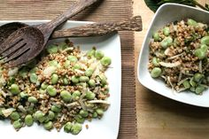 Spring Eating: Toasted Barley Salad with Fava & Fennel recipe - Stone Soup - May 2014