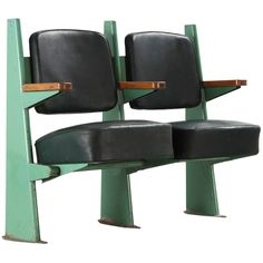 Amphitheatre banquette, 1953 by Jean Prove Reclaimed Furniture, Cool Furniture, Modern Furniture, Furniture Design, Jean Prouve, Retro Interior Design, Unique Sofas, Theater Seating, Banquette