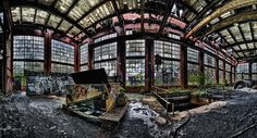 Abandoned coal breaker, Ashley, Luzerne County, PA, would love to go see this.