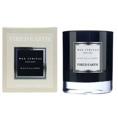 Fired Earth Wax Lyrical Boxed Candle. Black Tea and Jasmine