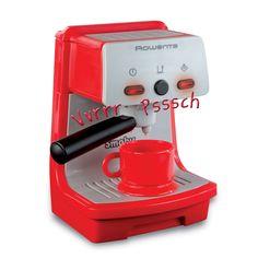 Smoby Rowenta Espresso koffiezetapparaat met oplichtende schakelaars, verschillende geluiden en een afneembare filterhouder. Afmetingen: 18 x 10,5 x 10,5 cm. - Smoby Rowenta Espresso Machine