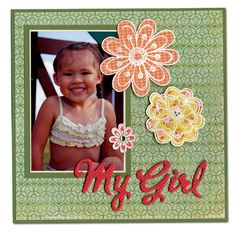 my girl scrapbook page