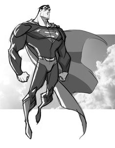 Sketch::Superman by KharyRandolph.deviantart.com