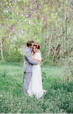 Modest wedding dress with flutter sleeves from alta moda.
