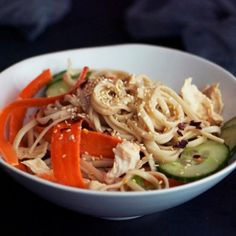 Shredded Chicken Breast and Noodle Salad Recipe
