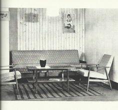 Salon vintage polonais années 60 Banquettes, Mid Century Design, Asd, Interior Inspiration, Teak, Mid-century Modern, Furniture Design, Dining Table, Design Ideas