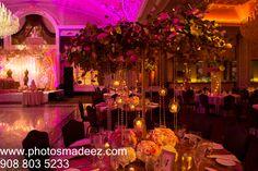 Wedding Reception Decor at The Venetian NJ - Indian Wedding. - Best Wedding Photographer PhotosMadeEz, Award winning photographer Mou Mukherjee. Along with Design House Decor, DJ USA and KM Events