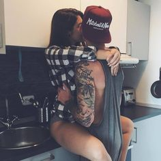 """Couple Lifestyle ™ on Instagram: """"Somebody's hungry. ? #oursurething"""" ❤ liked on Polyvore featuring couples, backgrounds and pictures"""