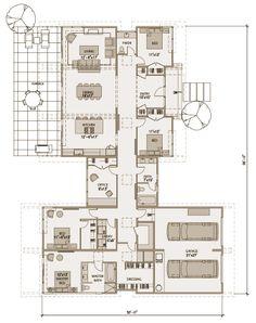 Modern Prefab : 4BR, 3BA, single story    Stillwater Dwellings