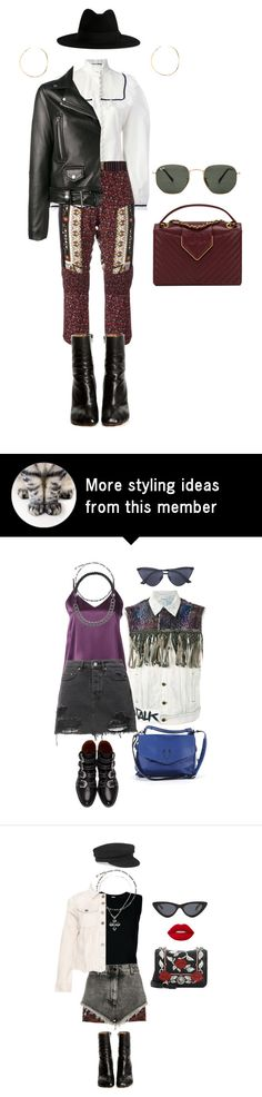 """""""Senza titolo #2685"""" by monsteryay on Polyvore featuring Gucci, N°21, Acne Studios, Yves Saint Laurent, Vetements, Chanel, Lana and Ray-Ban"""