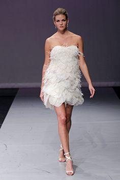 Stylish flapper Rivini wedding dress has flirty 1920s flair