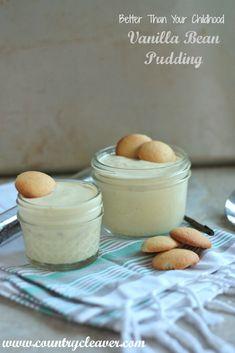 White Chocolate pudding.