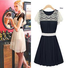 Chiffon dress summer lace dress