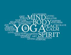 Yoga Words Collage  Huge 20x30 Poster by cjprints on Etsy, $39.99