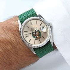 Green machine… #TailoredAsh #Rolex #menswatch