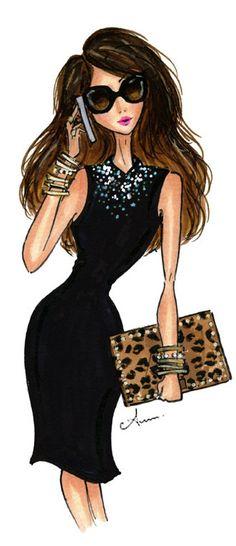 Fashion Illustration Print, The Editor by Anum Tariq