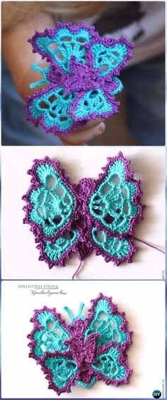 Crochet Irish Lace Butterfly Free Pattern - Crochet Butterfly Free Patterns [Picture Instructions]