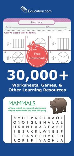 Join for free today and browse 30,000+ worksheets, online games, lesson plans and more from the web's most comprehensive learning library for kids. 2nd Grade Worksheets, School Worksheets, 2nd Grade Math, Second Grade, Seventh Grade, Fourth Grade, Learning Activities, Kids Learning, Teaching Resources