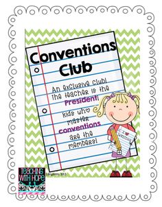 Teaching with Hope: The Conventions Club... Freebie Fall Friday is here again!