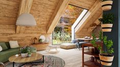 An amazing loft in the middle of nature, 3D design: Tomas Sciskala