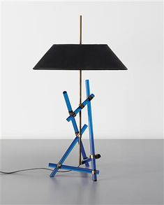 Max Ingrand,  Brass and Glass Rod Table Lamp, 1957.
