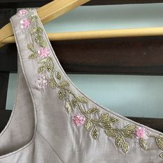 The Dusty Rose Mahira Blouse – WaliaJones Embroidery Neck Designs, Embroidery Suits Design, Hand Work Embroidery, Embroidery Fashion, Embroidery Patterns, Sari Design, Sari Blouse Designs, Zardosi Embroidery, Hand Work Blouse Design