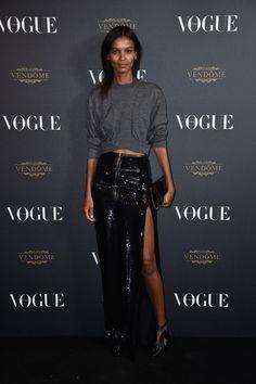 Liya Kebede en Louis Vuitton Soirée des 95 ans Vogue Paris http://www.vogue.fr/mode/inspirations/diaporama/la-soire-des-95-ans-de-vogue-paris/22911#liya-kebede-en-louis-vuitton