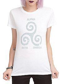 HOTTOPIC.COM - Teen Wolf Tri Symbol Girls T-Shirt