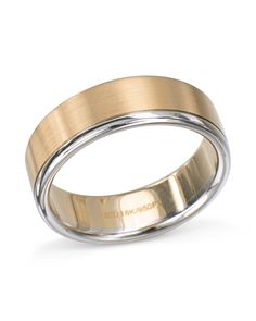 925575bf52c4b 2 tone wedding band with 18 karat rose gold and platinum. 7.0mm wide.