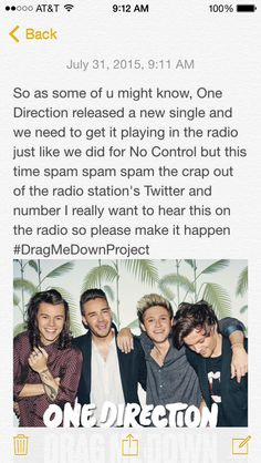 Please do this and trend #DragMeDownProject on Twitter