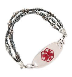 Iron Maiden Medical ID Bracelet from Lauren's Hope Medical ID.