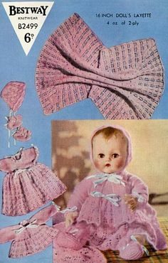 Vintage Doll Knitting Patterns - Page1