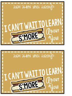 Back to School treat freebie! I can't wait to learn S'MORE about you! You can edit your name. Back to School treat freebie! I can't wait to learn S'MORE about you! You can edit your name. Back To School Night, 1st Day Of School, Beginning Of The School Year, Back To School Gifts, School Stuff, Preschool Open Houses, Kindergarten Classroom, Classroom Treats, Classroom Decor