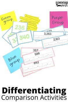 Learn more about teaching comparing 3-digit numbers in this 2nd grade math unit. There are anchor charts, activities, assessments and technology ideas to help students learn how to compare numbers using symbols and place value. Teaching Second Grade, Second Grade Math, Student Teaching, Teaching Tips, Subtraction Activities, Math Activities, Teaching Place Values, Place Value Activities, Teaching Addition
